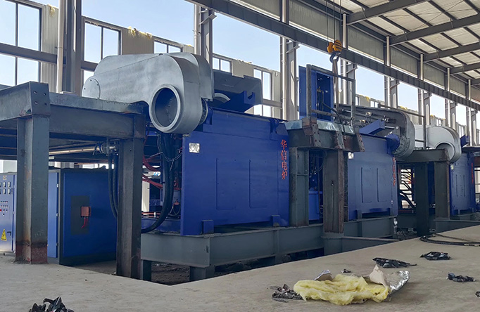 induction melting furnace working site