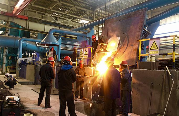 induction melting furnace workingsite