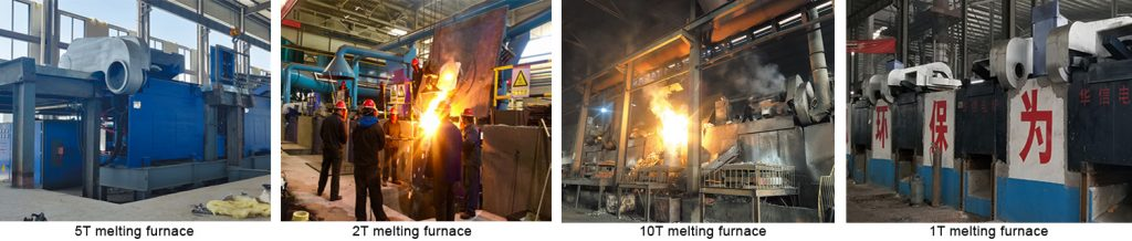 steel shell furnace working site