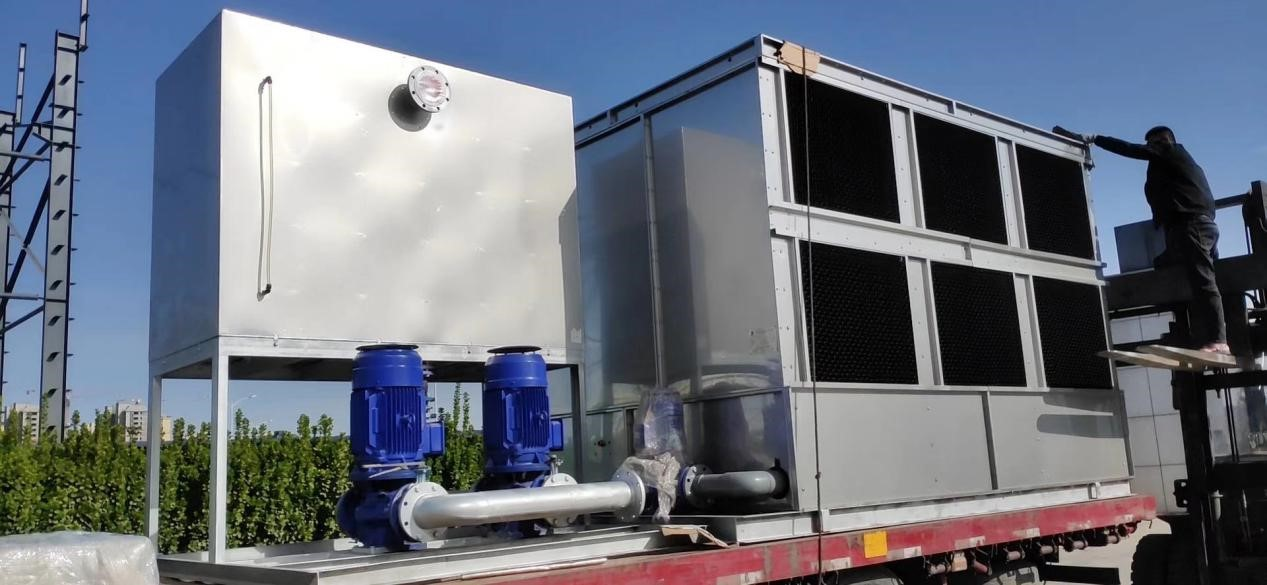 enclosed water cooling system shipped