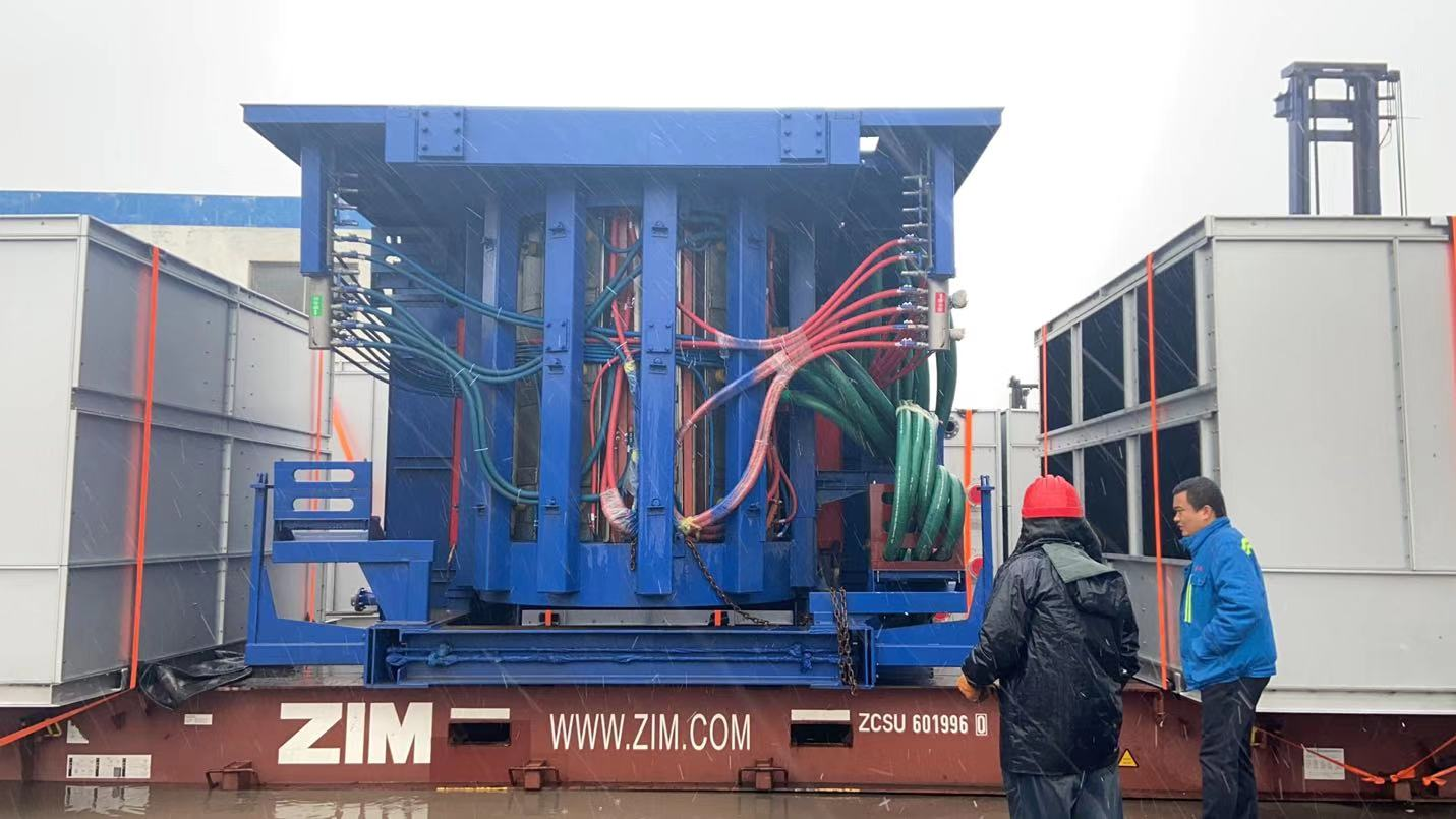10t induction melting furnace delivery to South Africa
