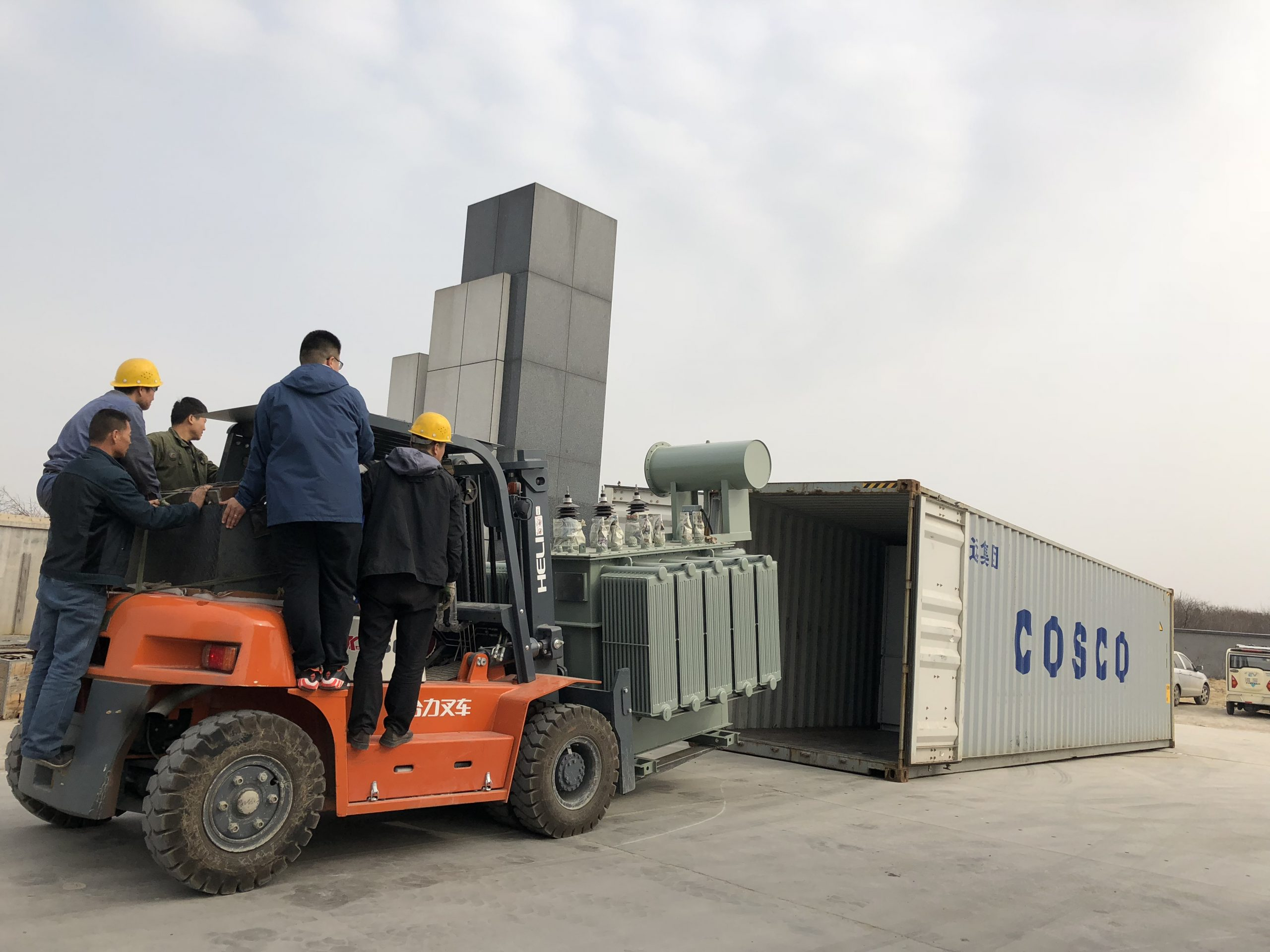 1500kva transformer loaded and shipped from huaxin electric melting furnace company