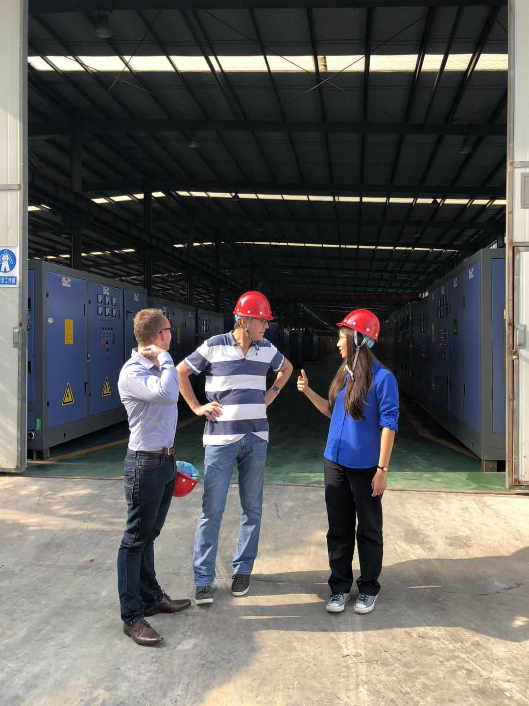 the customers visit huaxin electric melting furnace plant
