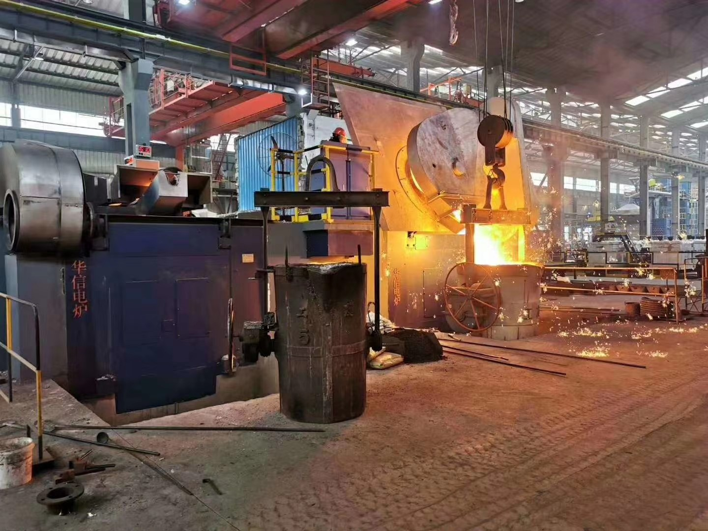 dual tract induction melting furnace site
