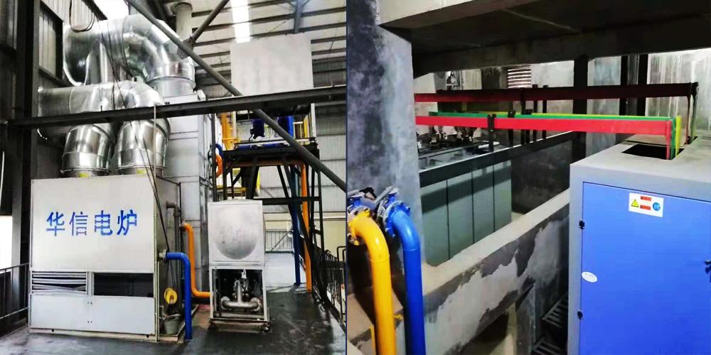3T/1500kw Steel Induction Furnace in Algeria