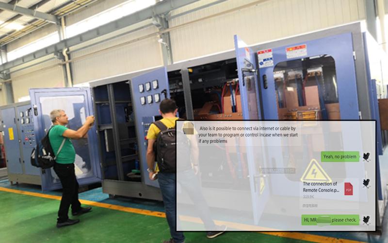 algeria customers visit china induction melting furnace company
