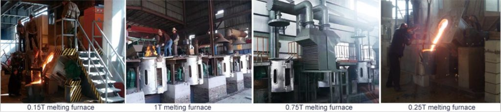 aluminum shell melting furnace working site