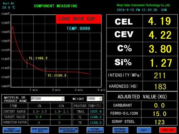 JB-TS6 Molten Iron Quality Thermal Analyzer 2