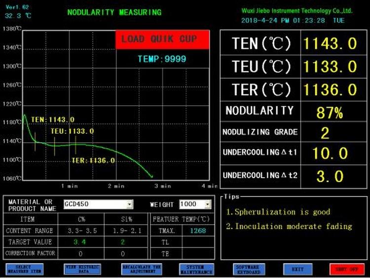 JB-TS6 Molten Iron Quality Thermal Analyzer 3